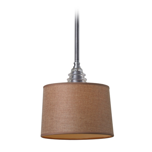 Elk Lighting Mini-Pendant Light with Brown Shade 66829-1