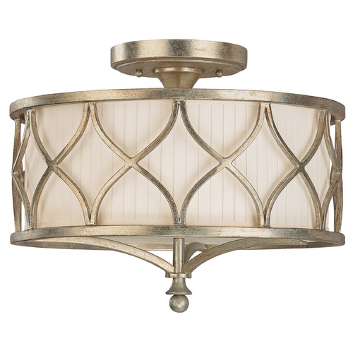 Capital Lighting Capital Lighting Winter Gold Semi-Flushmount Light 4003WG-487