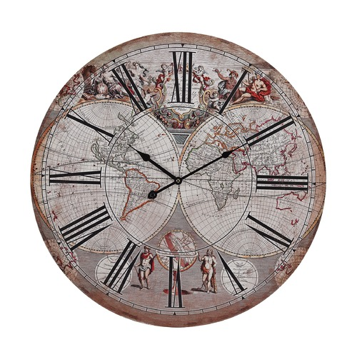 Sterling Lighting Renaissance Style Printed Map Clock 171-004