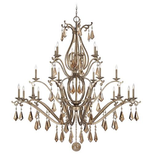 Savoy House Savoy House Oxidized Silver Crystal Chandelier 1-8105-24-128