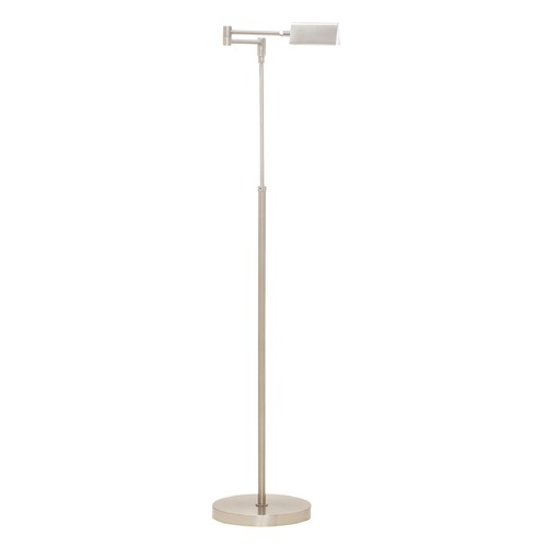 House of Troy Lighting House Of Troy Delta Satin Nickel LED Swing Arm Lamp with Triangle Shade D100-SN