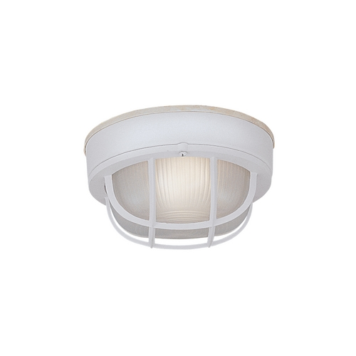 Designers Fountain Lighting Close To Ceiling Light with White Glass in White Finish 2073-WH