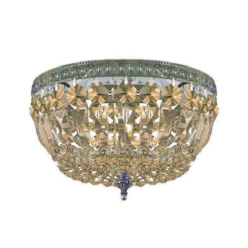 Crystorama Lighting Crystal Flushmount Light in Aged Brass Finish 710-AG-GT-MWP