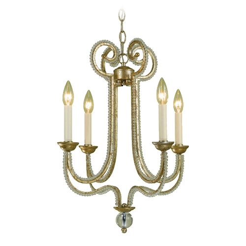 AF Lighting AF Lighting Camerson 4-Light Chandelier in Gold 6773-4H