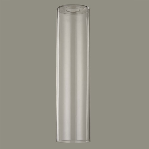 Design Classics Lighting 16-Inch Tall Cylinder Clear Glass Shade with 1-5/8 Fitter GL1640C