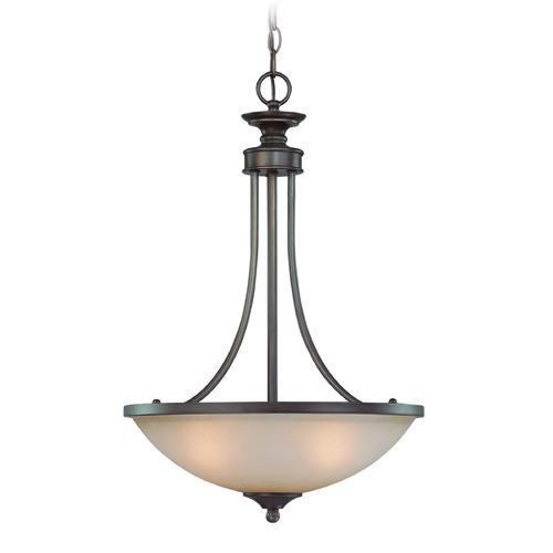 Jeremiah Lighting Jeremiah Spencer Bronze Pendant Light with Bowl / Dome Shade 26133-BZ