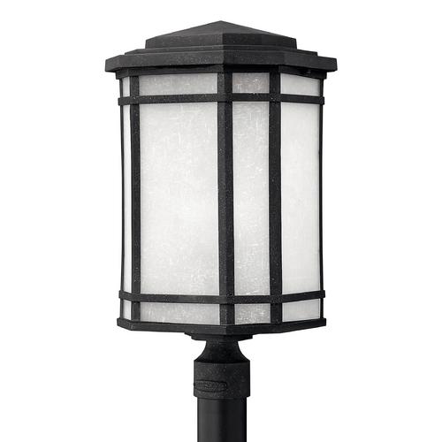 Hinkley Lighting Post Light with White Glass in Vintage Black Finish 1271VK-GU24