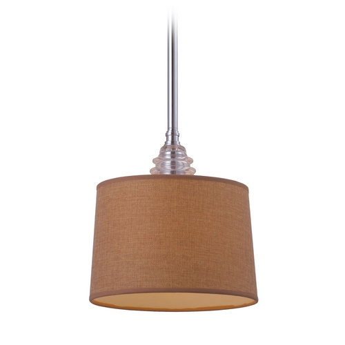 Elk Lighting Mini-Pendant Light with Brown Shade 66809-1