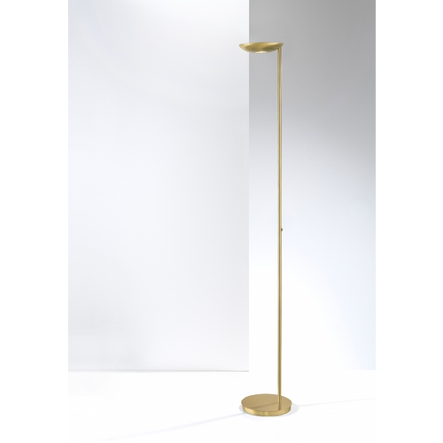 Holtkoetter Lighting Holtkoetter Modern LED Torchiere Lamp in Brushed Brass Finish 2625LED BB