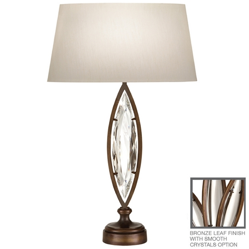Fine Art Lamps Fine Art Lamps Marquise Antique Hand Rubbed Bronze Table Lamp with Oval Shade 850210-31ST