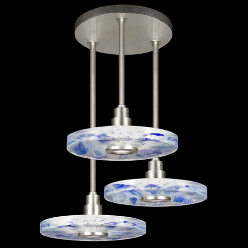 Fine Art Lamps Fine Art Lamps Crystal Bakehouse Silver Leaf Multi-Light Pendant with Drum Shade 823640-32ST