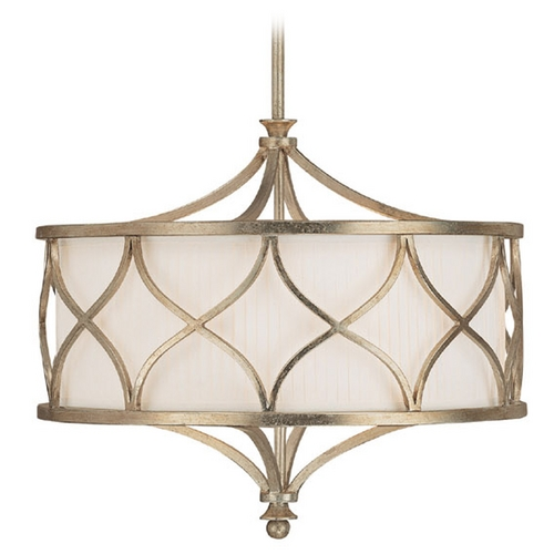 Capital Lighting Capital Lighting Winter Gold Pendant Light with Drum Shade 4005WG-486