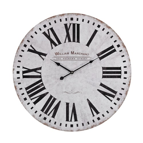Sterling Lighting Aged White Wall Clock 171-005