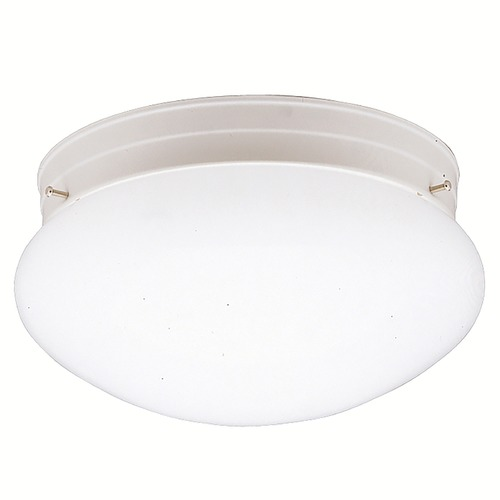 Kichler Lighting Kichler Modern Flushmount Light with White Glass in White Finish 208WH