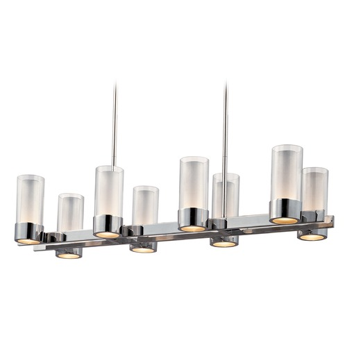 Maxim Lighting Maxim Lighting Silo Polished Chrome LED Island Light with Cylindrical Shade 23079CLFTPC/BUL