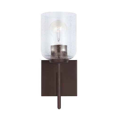 HomePlace by Capital Lighting HomePlace Carter Bronze Sconce with Clear Seeded Glass 639311BZ-500