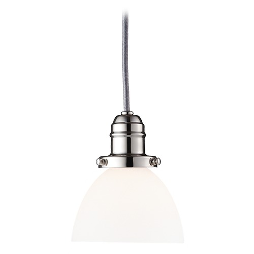 Hudson Valley Lighting Mini-Pendant Light with White Glass 3101-PN-823