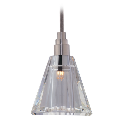 Hudson Valley Lighting Modern Mini-Pendant Light with Clear Glass 3506-SN-S-003