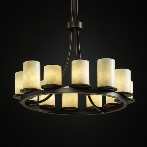 Justice Design Group Justice Design Group Clouds Collection Chandelier CLD-8763-10-DBRZ