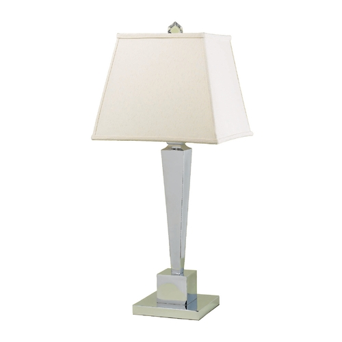 AF Lighting Modern Table Lamp with Beige / Cream Shade in Chrome Finish 6774-TL