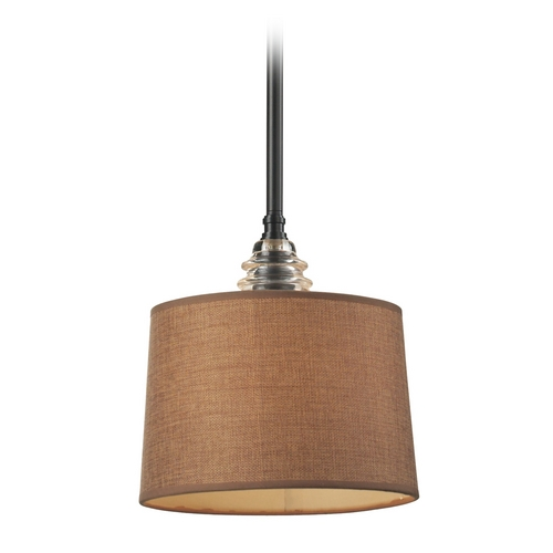 Elk Lighting Mini-Pendant Light with Brown Shade 66819-1