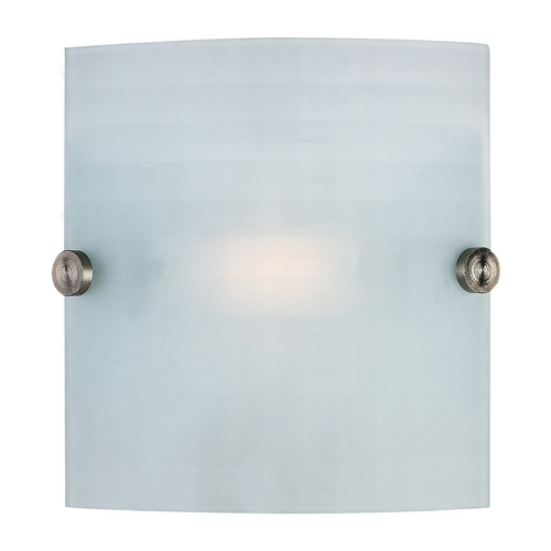 Access Lighting Access Lighting Radon Brushed Steel Sconce C62054BSCKFEN1113Q