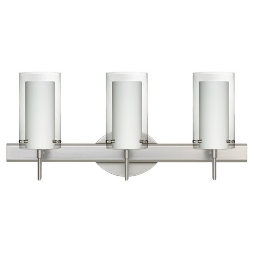 Besa Lighting Besa Lighting Pahu Satin Nickel Bathroom Light 3SW-C44007-SN