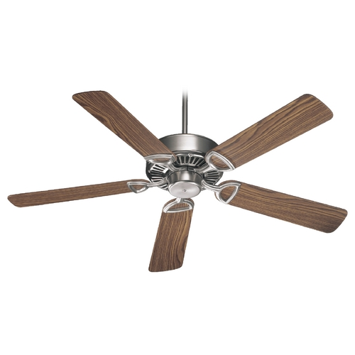 Quorum Lighting Quorum Lighting Estate Satin Nickel Ceiling Fan Without Light 43525-6522
