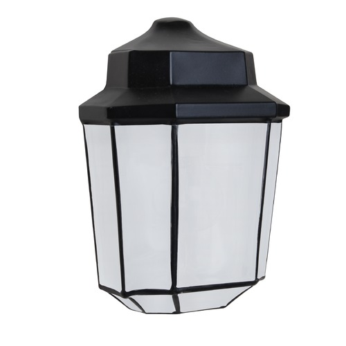 Besa Lighting Frosted Glass Outdoor Wall Light Black Costaluz by Besa Lighting 302857-FR