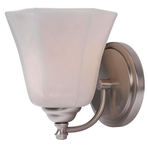 Kenroy Home Lighting Kenroy Home Lighting Woodhill Brushed Steel Sconce 93521BS