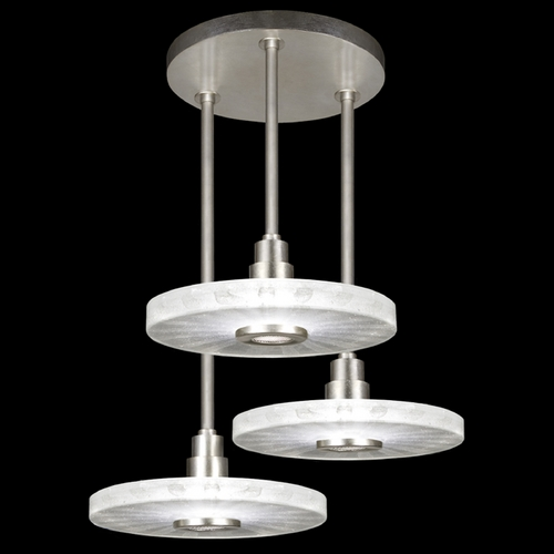 Fine Art Lamps Fine Art Lamps Crystal Bakehouse Silver Leaf Multi-Light Pendant with Drum Shade 823640-33ST