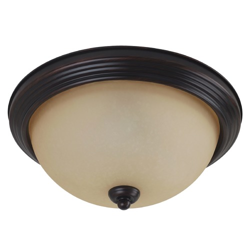 Sea Gull Lighting Sea Gull Lighting Ceiling Flush Mount Burnt Sienna LED Flushmount Light 7716391S-710