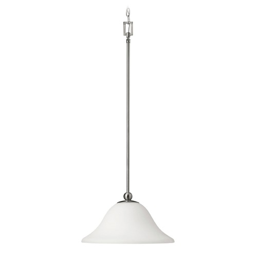 Hinkley Lighting Hinkley Lighting Bolla Brushed Nickel Mini-Pendant Light with Bowl / Dome Shade 4661BN-GU24