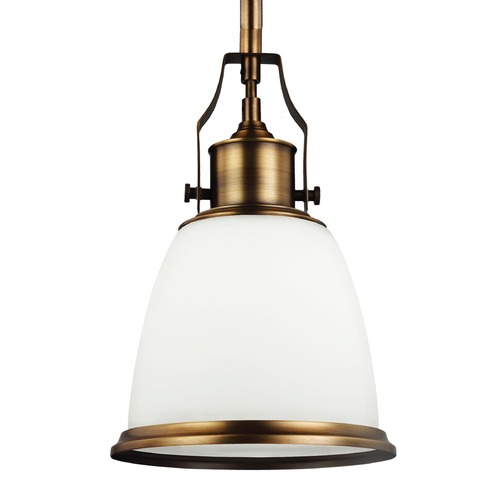 Feiss Lighting Feiss Hobson Aged Brass Mini-Pendant Light P1351AGB