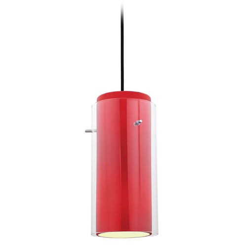 Access Lighting Access Lighting Glass`n Glass Cylinder Oil Rubbed Bronze Mini-Pendant Light with Cylindrical Shade 28033-4C-ORB/CLRD