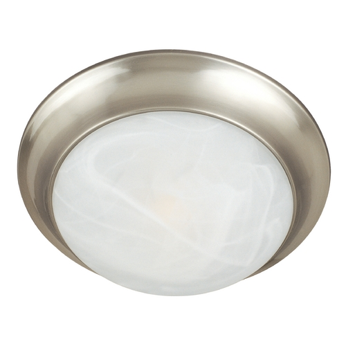 Maxim Lighting Flushmount Light with White Glass in Satin Nickel Finish 5852MRSN