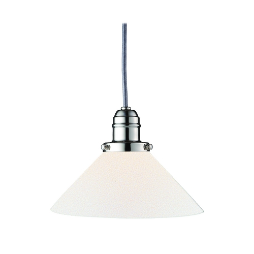 Hudson Valley Lighting Mini-Pendant Light with White Glass 3101-PN-M9