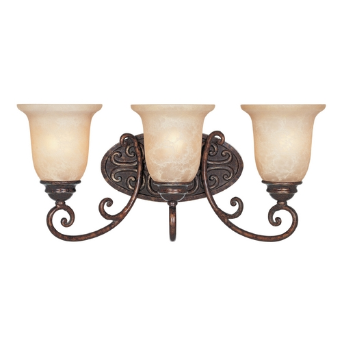 Designers Fountain Lighting Bathroom Light with Beige / Cream Glass in Burnt Umber Finish 97503-BU
