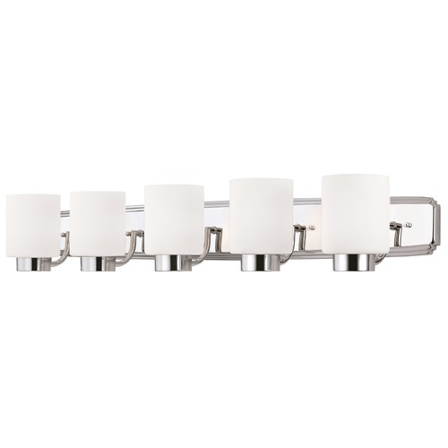 Dolan Designs Lighting Contemporary Bathroom Light in Chrome Finish with Cylinder Shades 3505-26