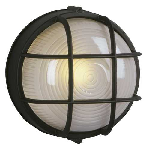 Galaxy Excel Lighting Marine Bulkhead Outdoor Wall Light in Black 305012-BK