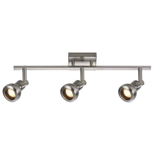 Recesso Lighting by Dolan Designs Track Light with 3 Spot Lights - Satin Nickel - GU10 Base TR0303-SN