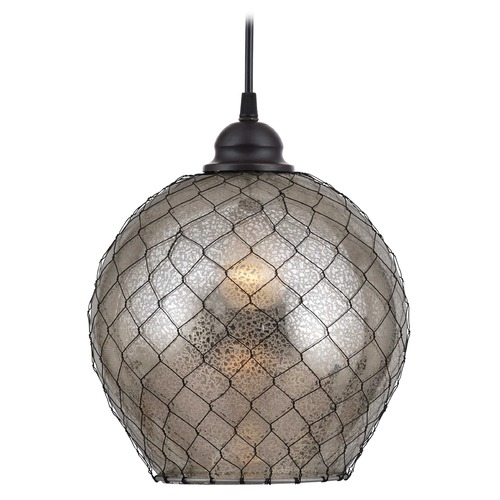 Kenroy Home Lighting Kenroy Home Lighting Nile Oil Rubbed Bronze Mini-Pendant Light with Globe Shade 93038AMER