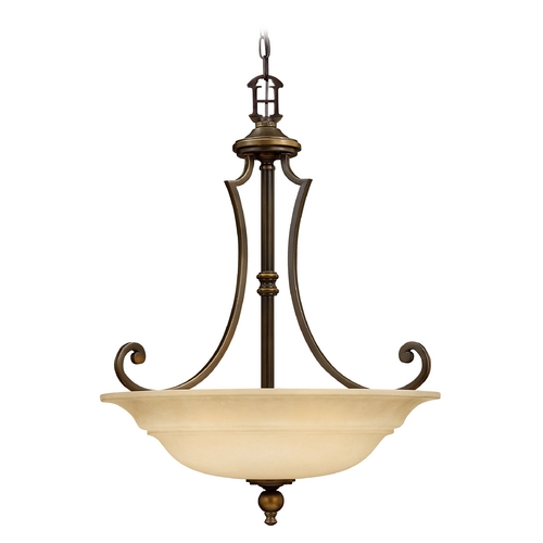 Hinkley Lighting Three-Light Pendant 4244OB