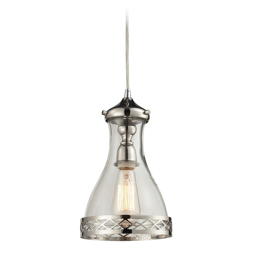 Elk Lighting Mini-Pendant Light with Clear Glass 63024-1