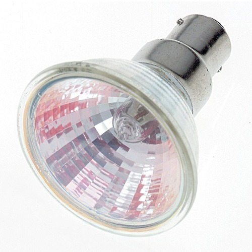 Satco Lighting MR-16 Halogen Light Bulb Bayonet Base Flood 36 Degree Beam Spread 2900K 12V Dimmable S1972