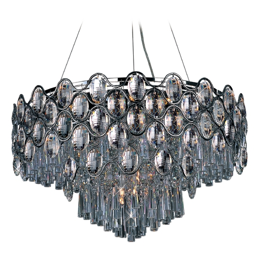 Maxim Lighting Maxim Lighting Jewel Chrome Pendant Light with Drum Shade 39929BCPC