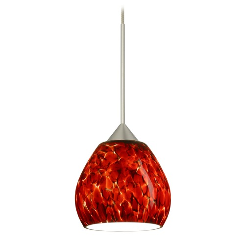 Besa Lighting Besa Lighting Tay Satin Nickel LED Mini-Pendant Light 1XT-560541-LED-SN