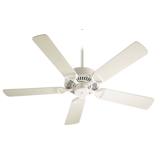 Quorum Lighting Quorum Lighting Estate Antique White Ceiling Fan Without Light 43525-67