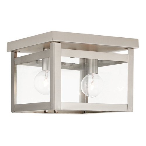 Livex Lighting Livex Lighting Milford Brushed Nickel Flushmount Light 4031-91