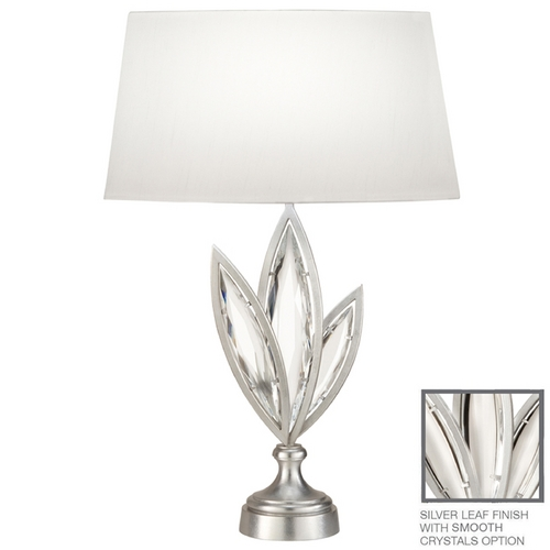 Fine Art Lamps Fine Art Lamps Marquise Platinized Silver Leaf Table Lamp with Oval Shade 854410-11ST